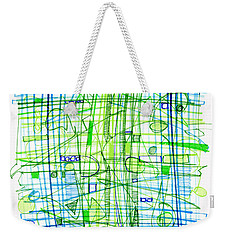 Abstract Pen Drawing Two Weekender Tote Bag by Lynne Taetzsch