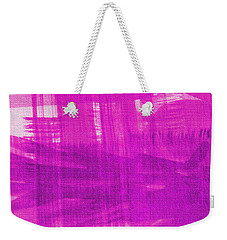 Weekender Tote Bag featuring the photograph Abstract Pink And Purple by Tom Janca