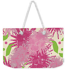 Abstract Pink Puffs Weekender Tote Bag