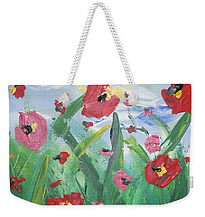 Abstract Poppies No 1 Weekender Tote Bag