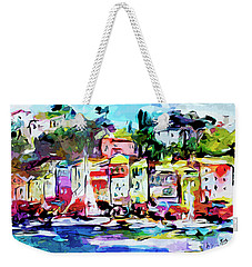 Abstract Portofino Italy Art  Weekender Tote Bag
