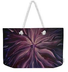 Abstract Purple Flower Weekender Tote Bag