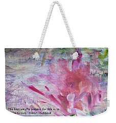 Famous Quotes Hubbard Weekender Tote Bag