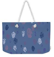 Abstract Rain On Blue Weekender Tote Bag
