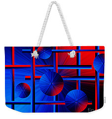Abstract Red/blue 2 Weekender Tote Bag