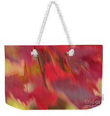 Abstract Red Maple Leaves Weekender Tote Bag