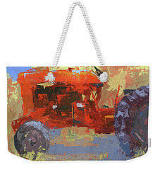 Abstract Red Tractor Weekender Tote Bag