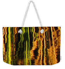 Abstract Reeds Triptych Middle Weekender Tote Bag