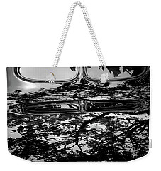 Abstract Reflection Bw Sq II - Vehicle Weekender Tote Bag