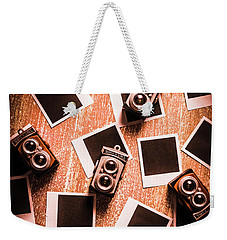 Abstract Retro Camera Background Weekender Tote Bag