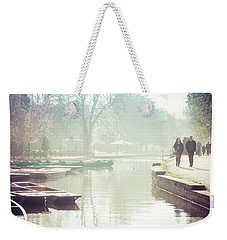 Abstract River Walk Weekender Tote Bag by David Warrington