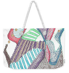 Weekender Tote Bag featuring the drawing Abstract by Rod Ismay