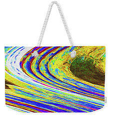 Weekender Tote Bag featuring the photograph Abstract Saguaro Contour by Tom Janca