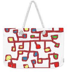 Abstract Scattered Nodes Weekender Tote Bag by Keshava Shukla