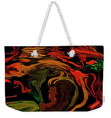 Weekender Tote Bag featuring the digital art Abstract Shall We Awaken Her by Sherri Of Palm Springs