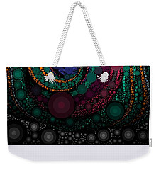 Weekender Tote Bag featuring the pastel Abstract by Sheila Mcdonald