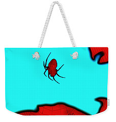 Weekender Tote Bag featuring the photograph Abstract Spider by Linda Hollis