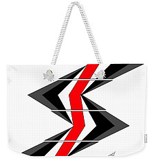 Weekender Tote Bag featuring the digital art Abstract Stairs by John Wills