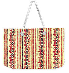 Abstract Stripes Pattern Weekender Tote Bag