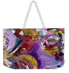 Abstract Sun, Moon And Stars Collide Weekender Tote Bag