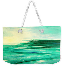 Abstract Sunset In Blue And Green Weekender Tote Bag