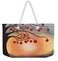 Abstract Sunset Weekender Tote Bag