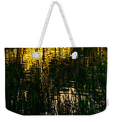 Abstract Sunset Reflection Weekender Tote Bag