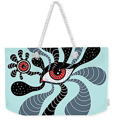Abstract Surreal Double Red Eye Weekender Tote Bag