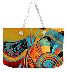 Abstract Swirls Weekender Tote Bag by Jessica Wright