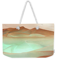 Abstract Terracotta Landscape Weekender Tote Bag by Deborah Smith