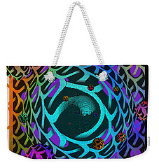 Weekender Tote Bag featuring the digital art Abstract - The Fabric Of Life by Glenn McCarthy Art and Photography