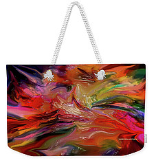 Abstract-the Wild Of The Sea Weekender Tote Bag
