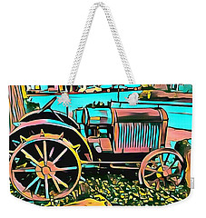 Weekender Tote Bag featuring the digital art Abstract Tractor Los Olivos California by Floyd Snyder