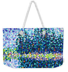Weekender Tote Bag featuring the painting Abstract Trees Impressionist Painting by Cristina Stefan