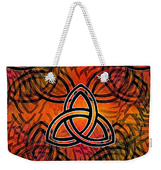 Weekender Tote Bag featuring the digital art Abstract - Trinity by Glenn McCarthy Art and Photography