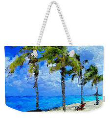 Abstract Tropical Palm Beach Weekender Tote Bag