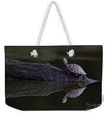 Weekender Tote Bag featuring the photograph Abstract Turtle by Douglas Stucky