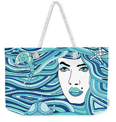 Abstract Water Element Weekender Tote Bag by Serena King