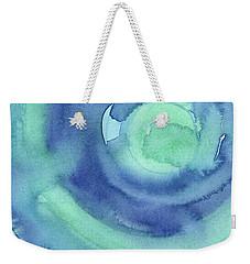 Abstract Watercolor Aqua Blues Weekender Tote Bag