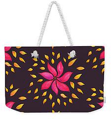 Abstract Whimsical Watercolor Pink Flower Weekender Tote Bag