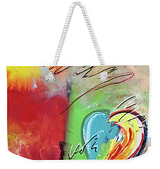 Abstract With Heart Weekender Tote Bag