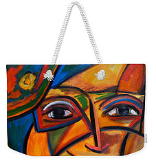 Abstract Woman With Flower Hat Weekender Tote Bag