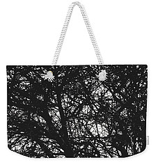 Weekender Tote Bag featuring the mixed media Abstract X by Chriss Pagani