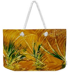 Abstract Yellow, Green Fields   Weekender Tote Bag