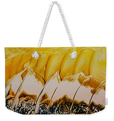 Abstract Yellow, White Waves And Sails Weekender Tote Bag