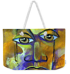 Abstract Young Man Weekender Tote Bag by Raymond Doward