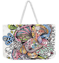 Abstract2colored Weekender Tote Bag