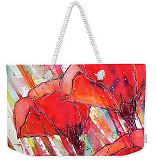 Abstracted Poppies No.2 Weekender Tote Bag