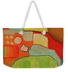 Weekender Tote Bag featuring the pastel Abstraction123 by Paul McKey