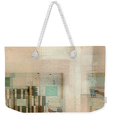 Weekender Tote Bag featuring the digital art Abstractitude - C01b by Variance Collections